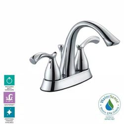 Edgewood 4 in. Centerset 2-Handle High-Arc Bathroom Faucet in Chrome by Glacier Bay for Sale in Newark,  NJ