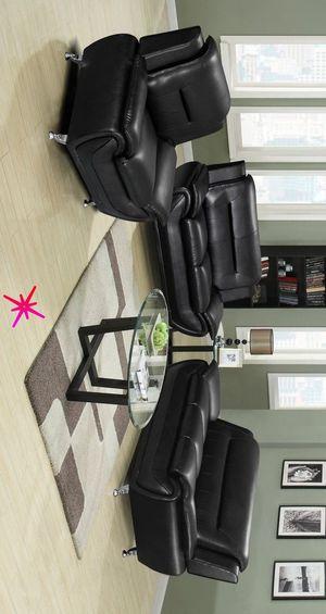 Antequera 🧶Black 3-Piece Living Room Set | 3-Piece SOFA & LOVESEAT & CHAIR for Sale in Alexandria, LA