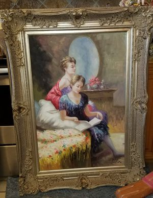 Beautiful paintings in canvas w beautiful frame for Sale in Cape Coral, FL
