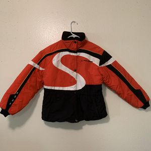 Vintage Polaris Edge Snowmobile Winter Jacket Coat Youth 14 Red Black Warm Gift for Sale in Colorado Springs, CO