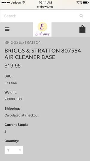 Briggs Stratton Parts For Sale Only 2 Left At 60
