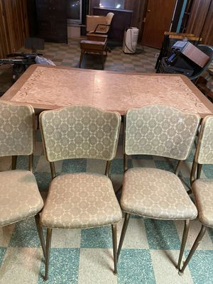 Vintage table six chairs for Sale in Cleveland, OH