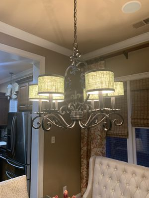 6 light dark brown uplight chandelier for Sale in Fisherville, TN