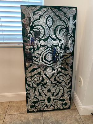 Pier 1 Mirrored Teal Mosaic Wall Panel for Sale in Miami, FL