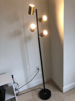 Gold Brass Floor Lamp for Sale in Washington, DC