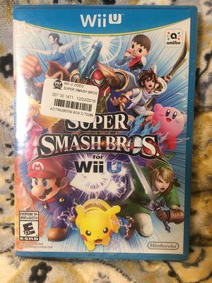Nintendo Wii U Super Smash Bros for Sale in Chino, CA