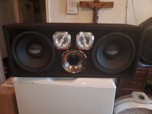 """2320WATTS 10"""" HYPER POWER CHUCHERO BOXES WITH PRV TWEETERS AND HORN DRIVER for Sale in The Bronx, NY"""