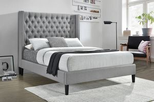 Grey Queen Bed Frame with Mattress!!Brand New Free Delivery for Sale in Chicago, IL