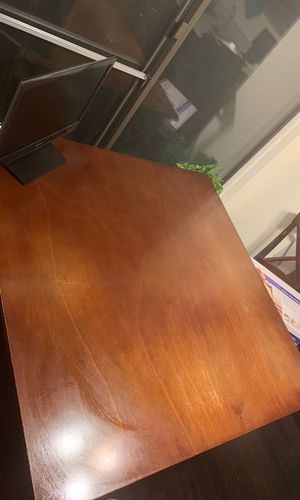 Wood table 2 chairs for Sale in Rockville, MD