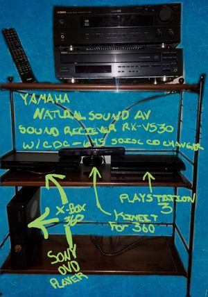 Yamaha surround sound receiver & 5 disc cd changer PS3, XBOX360 W/ Kinect, Sony DVD player for Sale in Berwick, PA