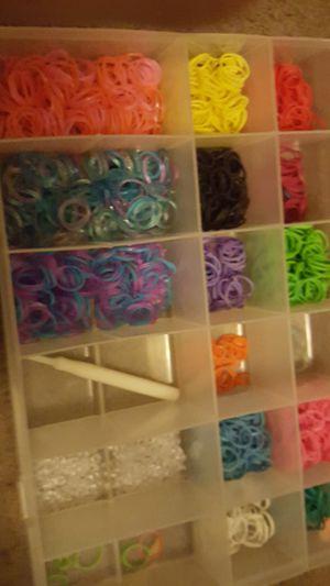 Rainbow looms rubber bands for Sale in Bridgeport, CT