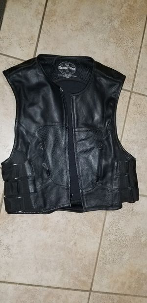 Leather motorcycle riding vest for Sale in Wilmington, DE