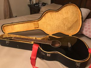 IBANEZ ELECTRIC ACOUSTIC GUITAR AEG5EJP BK WITH HARD GOLD CASE WORTH $100 BATTERY POWERED TUNER for Sale in Miami, FL