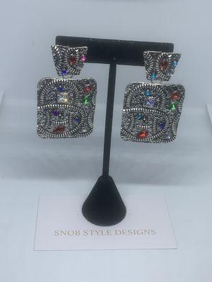 Silver fashion earrings for Sale in Boynton Beach, FL