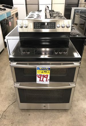 GE Double Oven Standing Slide-in Range (Stainless Steel) for Sale in Milwaukie, OR