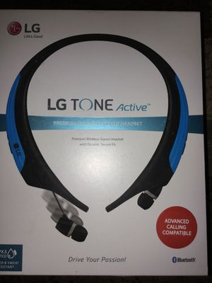 LG TONE Active HBS-850 Headset - Earphones with mic - in-ear - around the neck design - wireless - Bluetooth for Sale in Detroit, MI