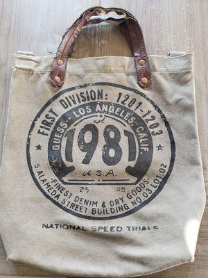 Khaki GUESS Tote Handbag (used) for Sale in Wayne, IL