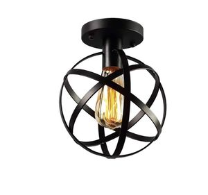 KOONTING Vintage Industrial Flush Mount Ceiling Light, Metal Spherical Ceiling Lamp Light Fixture for Hallway Stairway Porch Bedroom Kitchen. for Sale in Bakersfield, CA
