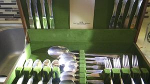 1847 Rogers Bros silverware set 48 piece for Sale in Houston, TX