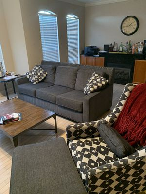 Matching couch 2 Chairs/ ottoman for Sale in Clearwater, FL