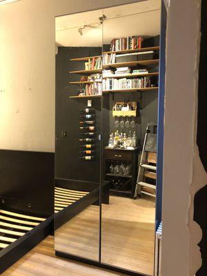 Ikea mirror door wardrobe closet for Sale in New York, NY