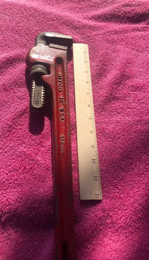 """Vintage RITCO 18"""" HEAVY DUTY PIPE WRENCH Made In USA for Sale in Chula Vista, CA"""