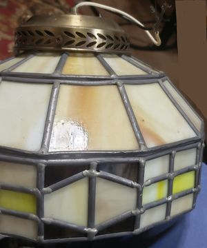 Stained Glass Hanging Light Fixture with Extra Shade for Sale in Milton, FL