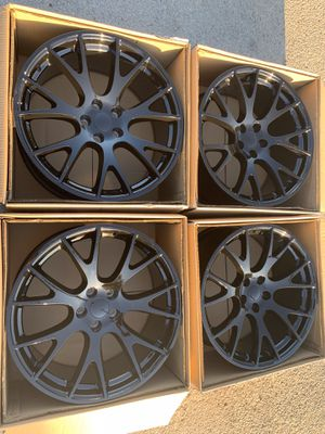 """New 20"""" Black hell cat rims 20 Hellcat Wheels 20s Rines will fit Dodge Charger , Challenger , Magnum , Chrysler 300 , 300c Replica Replicas for Sale in Dallas, TX"""