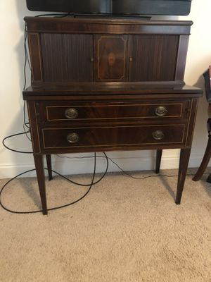 Antique secretary desk and chair for Sale in Liberty, SC