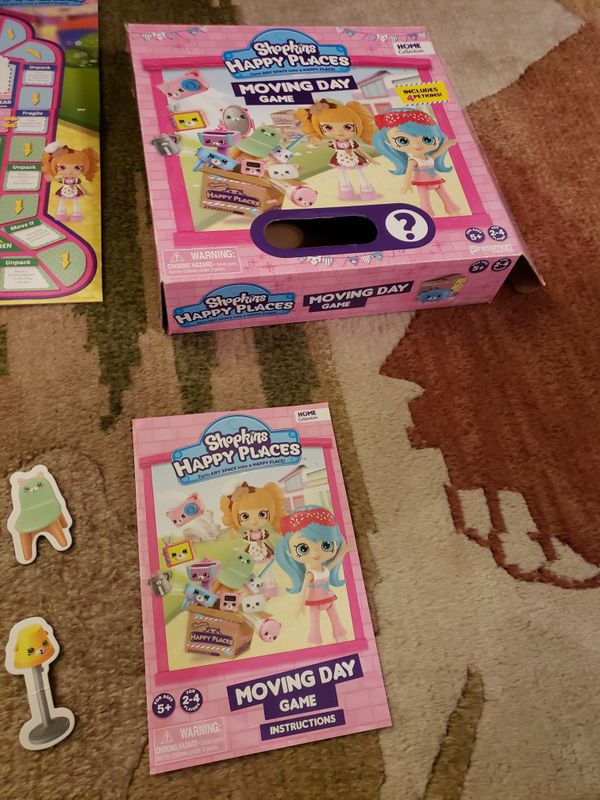 SHOPKINS Happy Places Moving Day kids game, kids board game