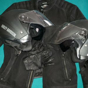 Harley Davidson Full Gear SET,Jacket, Gloves And Helmets for Sale in Hollywood, FL