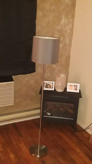 Standing lamp with gray shade for Sale in Queens, NY