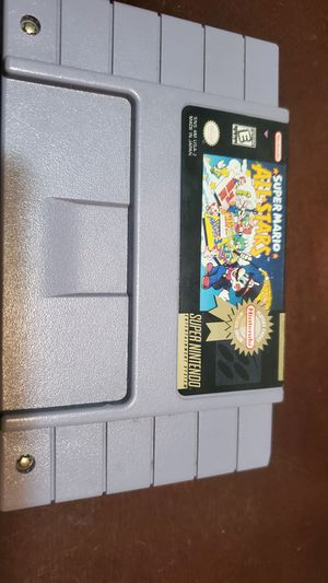 Super nintendo SUPER MARIO ALL STARS VERY MINIMALLY USED LIKE NEW AUTHENTIC for Sale in Riverside, CA