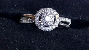 SI1 10k White Gold Halo antiquated diamond engagement ring for Sale in Powhatan, VA