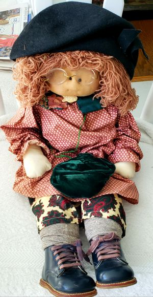Hand made little girl doll with handmade clothes and real shoes for Sale in Elkins Park, PA