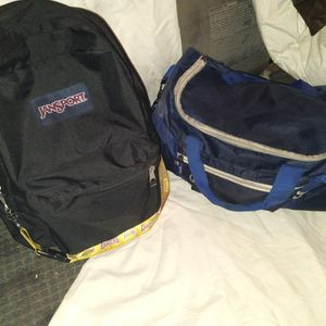 Blue Duffle Bag And Jansport Backpack For Sell for Sale in Bakersfield, CA
