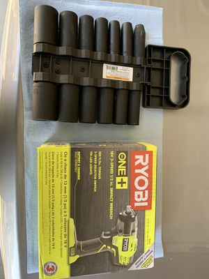 Ryobi 18v 3 Speed Impact Wrench with Sockets for Sale in Fresno, CA
