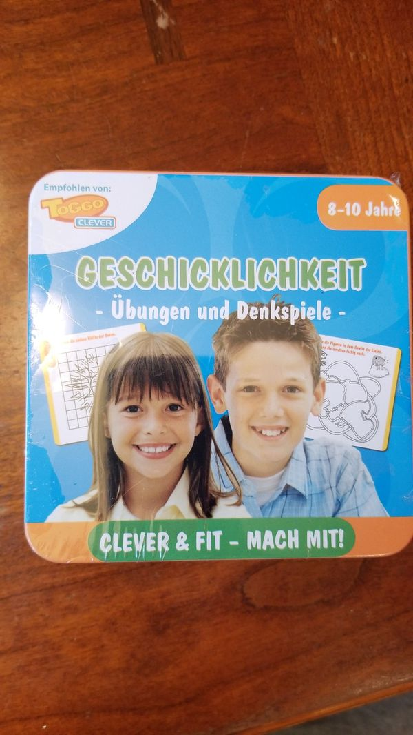 German childrens game and puzzles
