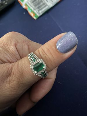 Genuine Emerald and white Sapphire ring for Sale in Fayetteville, NC