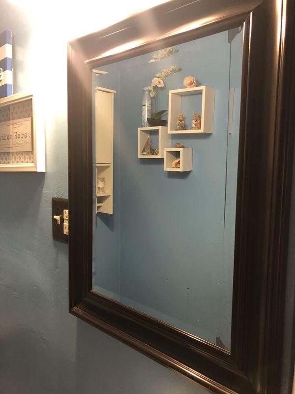 Bathroom lamp & mirror