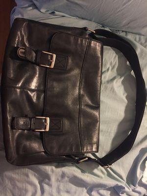 Fossil Brand Leather Messenger Bag Black for Sale in Stickney, IL