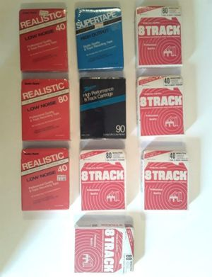 10 New Sealed Blank 8 Track Recording Tapes for Sale in Pembroke Park, FL