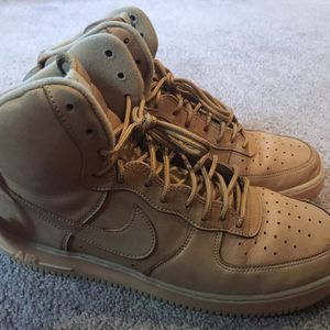 NIKE AIR FORCE 1 HIGH 07 LV8 FLAX WHEAT GUM 882096 200 MEN'S SIZE 12 for Sale in Annandale, VA