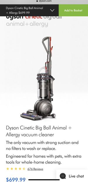 Dyson Cinetic Big Ball Animal + Allergy vacuum cleaner The only vacuum with strong /Brand New (Sealed) for Sale in Los Angeles, CA