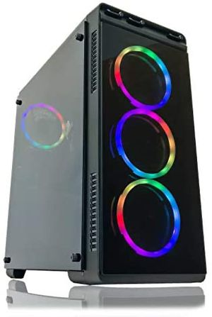 Gaming PC Desktop Computer by Alarco Intel i5 3.10GHz,8GB Ram,1TB Hard Drive,Windows 10 Pro,WiFi Ready, Video Card Nvidia GTX 650 1GB, 4 RGB Fans. . for Sale in Adelphi, MD