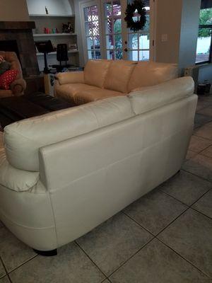 Natuzzi leather sofa and loveseat for Sale in Phoenix, AZ