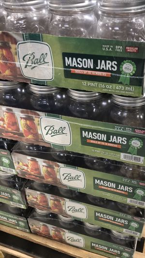 New canning jars: lids, quarts, pints, regular & wide mouth: for Sale in Fairview, OR