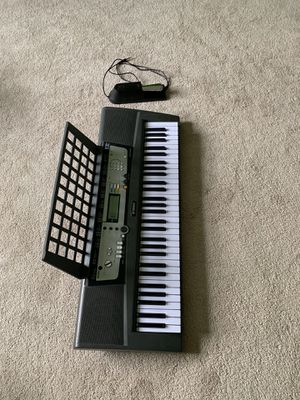 Yamaha 64-key unweighted keyboard and sustain pedal for Sale in Charlotte, NC