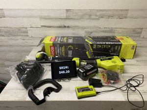 Ryobi 40 Volt Brushless Cordless Attachment Capable String Trimmer Kit 4Ah Battery Included for Sale in Mesa, AZ