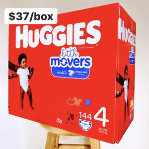 Size 4 (22-37 Lbs) Huggies Little Movers (144 Baby Diapers) for Sale in Anaheim, CA